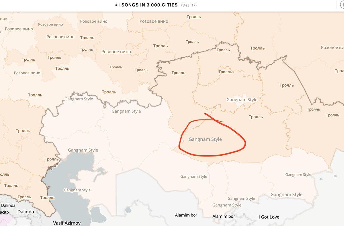 Tom Calver on Twitter Great map aside how is Gangnam Style still