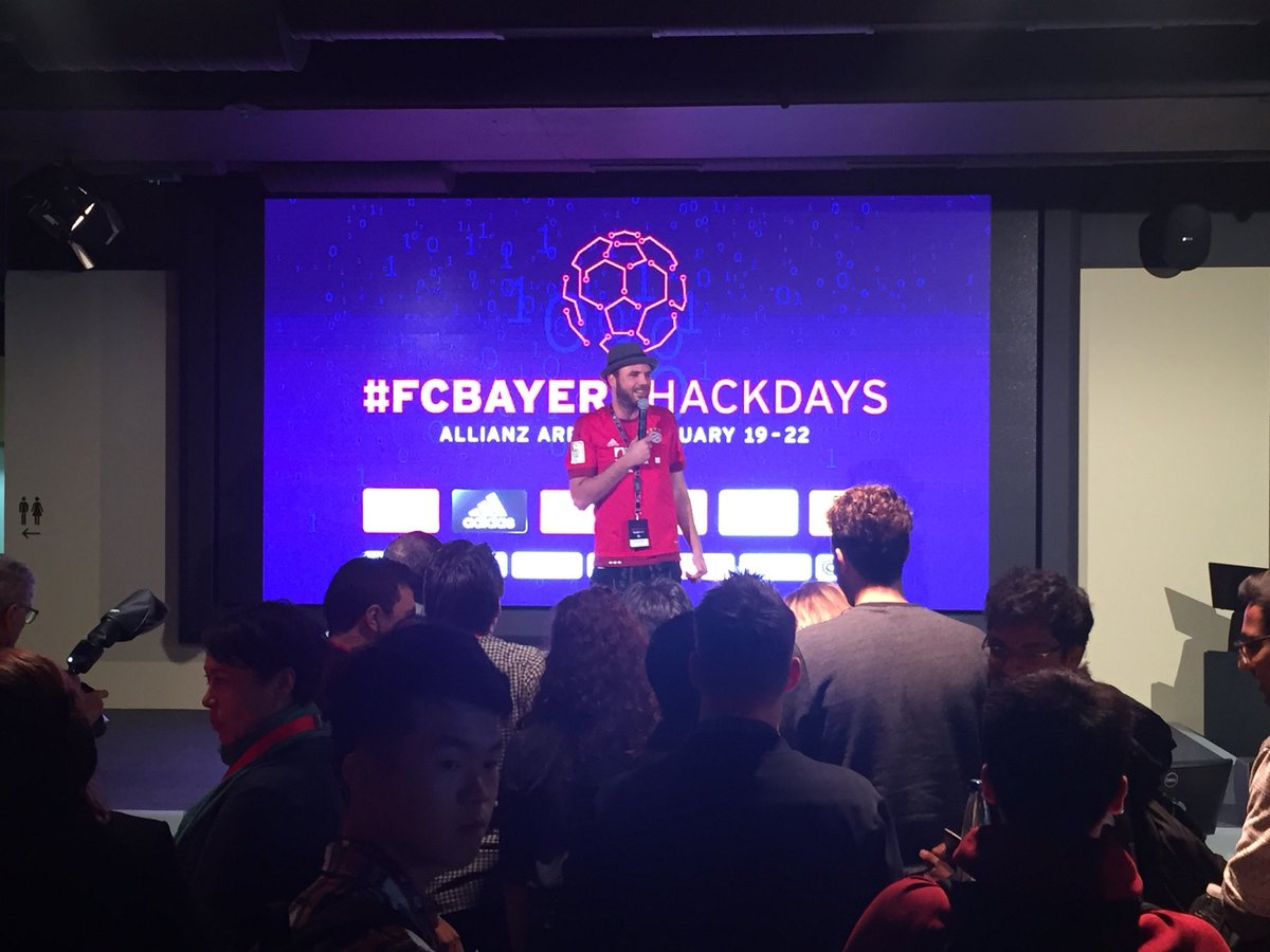 RT @bpenkert: The #FCBayernHackDays are about to kick off! 🤘💻⚽️ #FCBayern #MiaSanMia #PackMas #sportstech https://t.co/q45vOtGthU