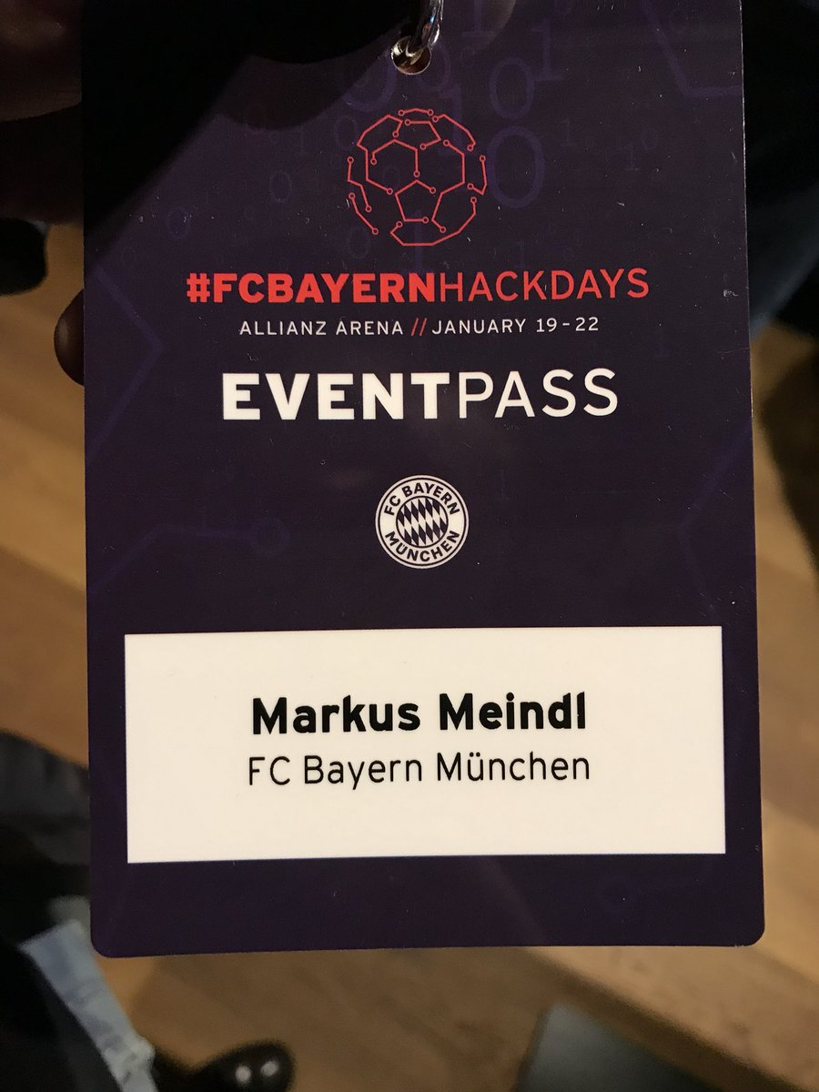 Very excited about #FCBayernHackDays! 💻 #packmas https://t.co/m58dEqyLzb