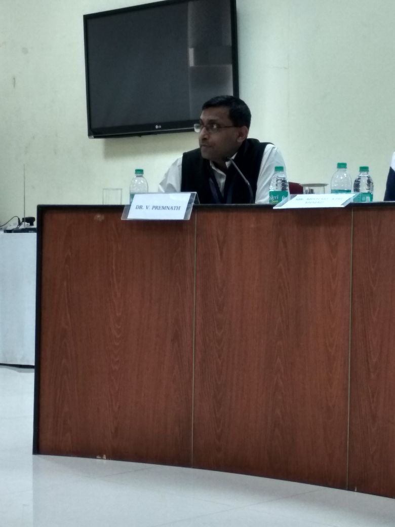 Dr. Premnath moderating a panel discussion on &quot;Business Models, #Innovations, and #socialchange &quot; at the South Asia Conference on Business Models and #socialentrepreneurship at TISS. <br>http://pic.twitter.com/7ItiGTakfL