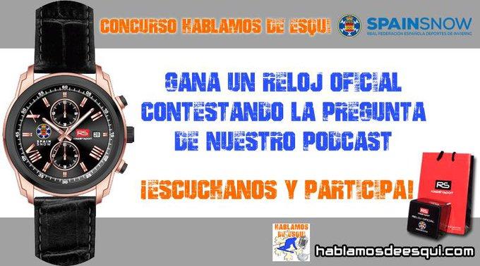Escúchanos y participa en el concurso para ganar un reloj oficial #spainsnow . https://t.co/75Zh8yKUxw O en nuestra web en @nevasport: https://t.co/PdbF9KpKC9 ¡Es muy fácil!