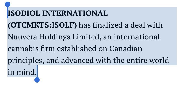 #ffwd  #Nuuvera $Nuu.v #Osodiol #Isolf Deal Finalised #Cannabis  http:// mmjreporter.com/isodiol-intern ational-otcmktsisolf-finalizes-deal-with-nuuvera-34408.html &nbsp; … <br>http://pic.twitter.com/FP0fitkBLD