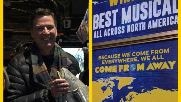 NEW | Comey From Away? Former FBI director calls musical 'inspiring story of kindness'   https://t.co/HztTiUmZ84   #cbcnl #nlarts @wecomefromaway