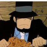 カリオストロの城でルパン達が食べてるミートボールスパゲティですがセブンイレブンのミートスパゲティ(3…