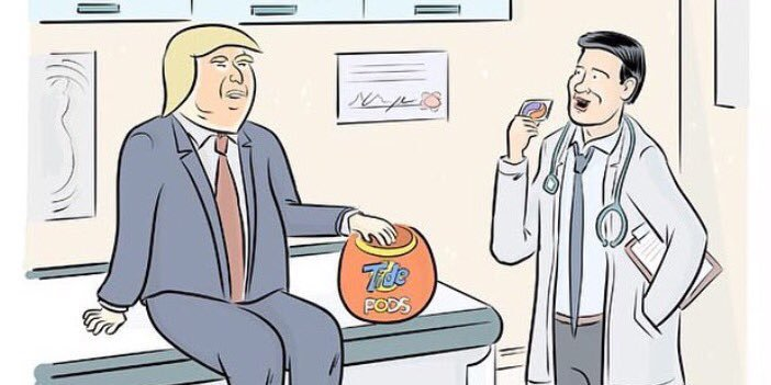 How cartoonists around the world have reacted to Trump's trip to the doctor https://t.co/icqiem6b2C