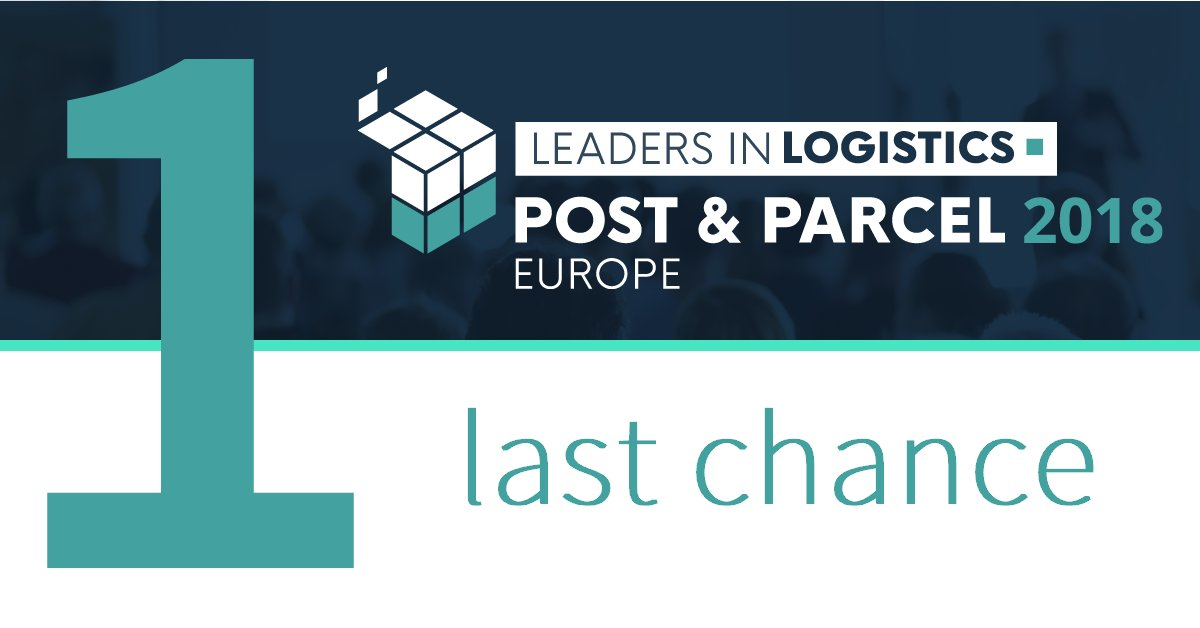 ONE LAST CHANCE for you to save up to €300 on Leaders in #Logistics: #Post &amp; #Parcel Europe 2018! Join 250+ attendees from 35+ countries for 3 days of insight  https:// goo.gl/bbb3rG  &nbsp;    #delivery #conference #ecommerce<br>http://pic.twitter.com/UhYrdZjOsx
