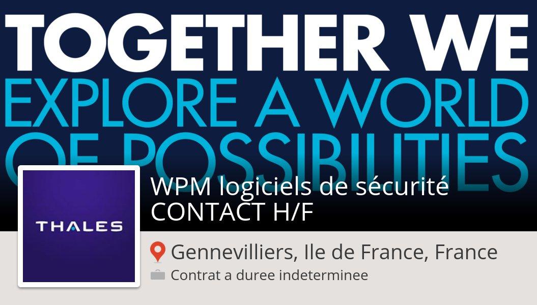 #Thales: WPM logiciels de #sécurité #CONTACT H/F (#GennevilliersIledeFranceFrance) #job https://workfor.us/thales/50oq  - FestivalFocus