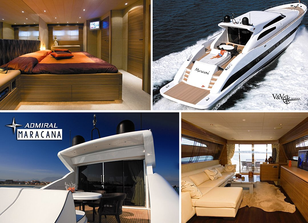MARACANA is an elegant luxury motor yacht, it can travel at a cruising speed of 25 knots and reach a maximum speed of 30  http://www. marinavv.com  &nbsp;   #yachts #yachtlife #yachtforsale #unique #iconic #glamour #boat #sea #beach #ocean #cancun #rivieramaya #mexico #friday #fridaymood <br>http://pic.twitter.com/vTMjYhJBuW
