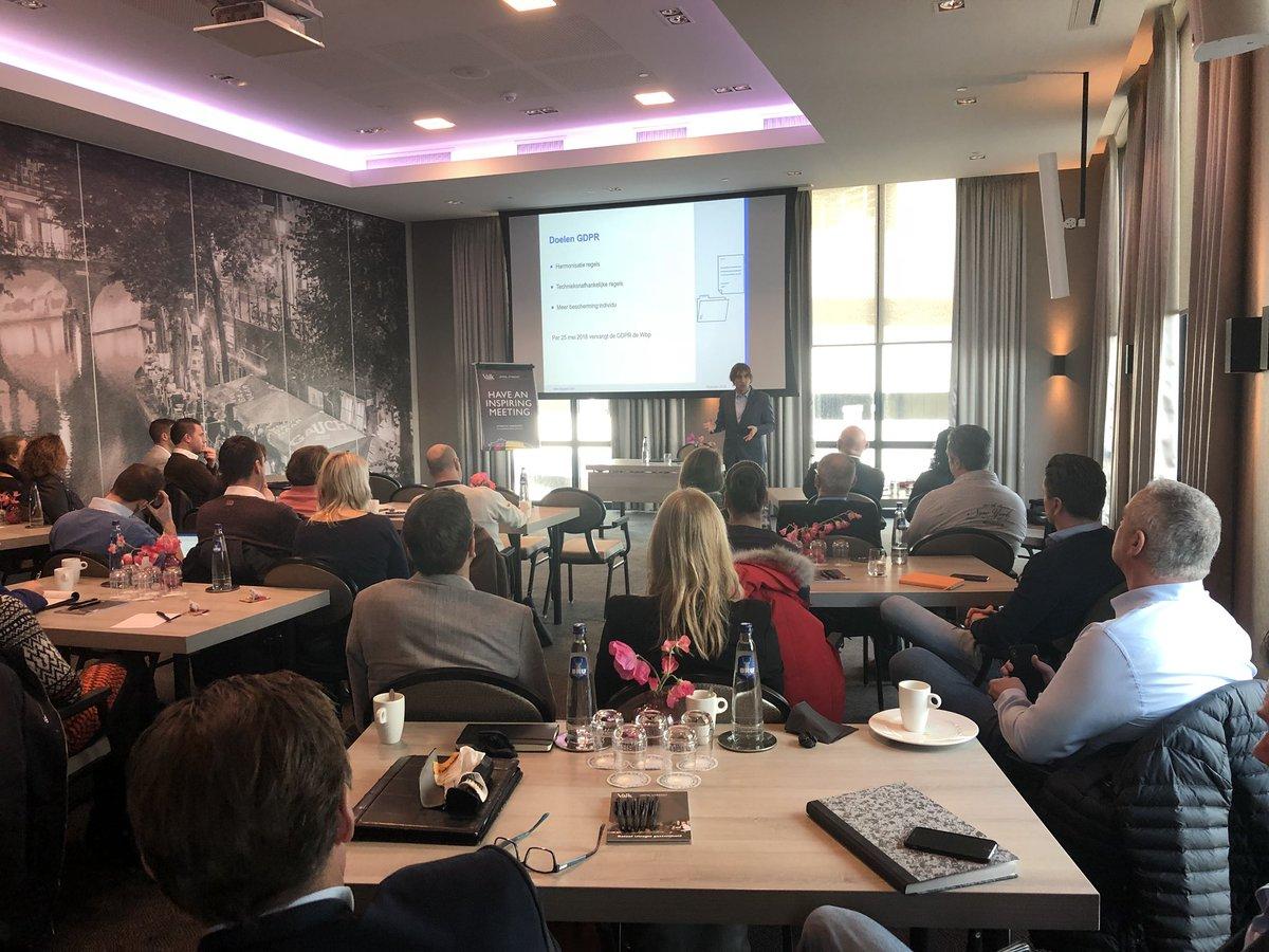test Twitter Media - Informatieve bijeenkomst in Utrecht over GDPR / AVG voor onze leden, waar privacy-advocaat @richardvschaik van DLA Piper het nodige over de aanstaande verordening uiteenzet. https://t.co/4bqjGCb4Gw