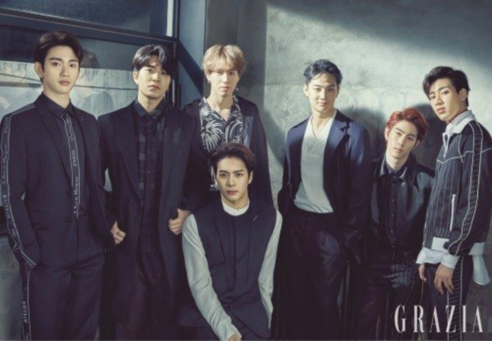 GOT7 pose for the cover of 'Grazia' http://ridder.co/dalENL  by #allkpop via @ridder_co