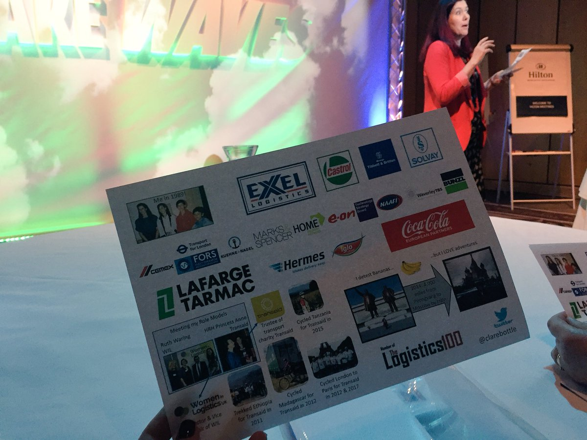 'Making Waves' with @ClareBottle @driverhire #conference #logistics #landscape<br>http://pic.twitter.com/vJHSbmQ0so
