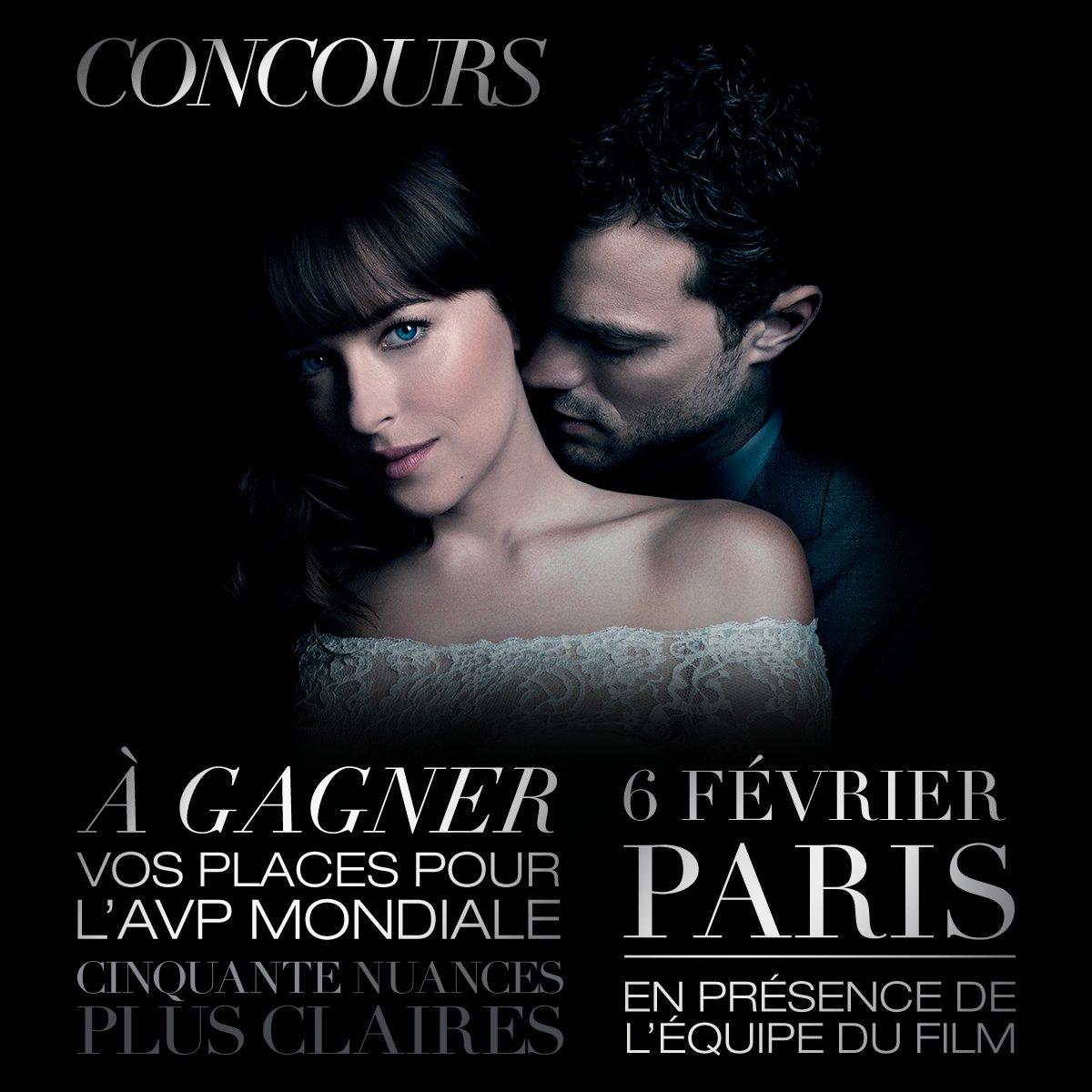 RT @UniversalFR: Tentez de gagner vos places pour l'AVP mondiale de #CinquanteNuances Plus Claires, le mardi 6 février 2018 à Paris, en pré…