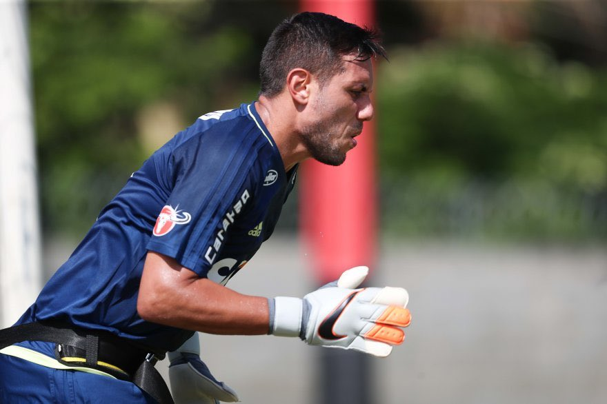 Diego Alves no treino de hoje (19/01). h...