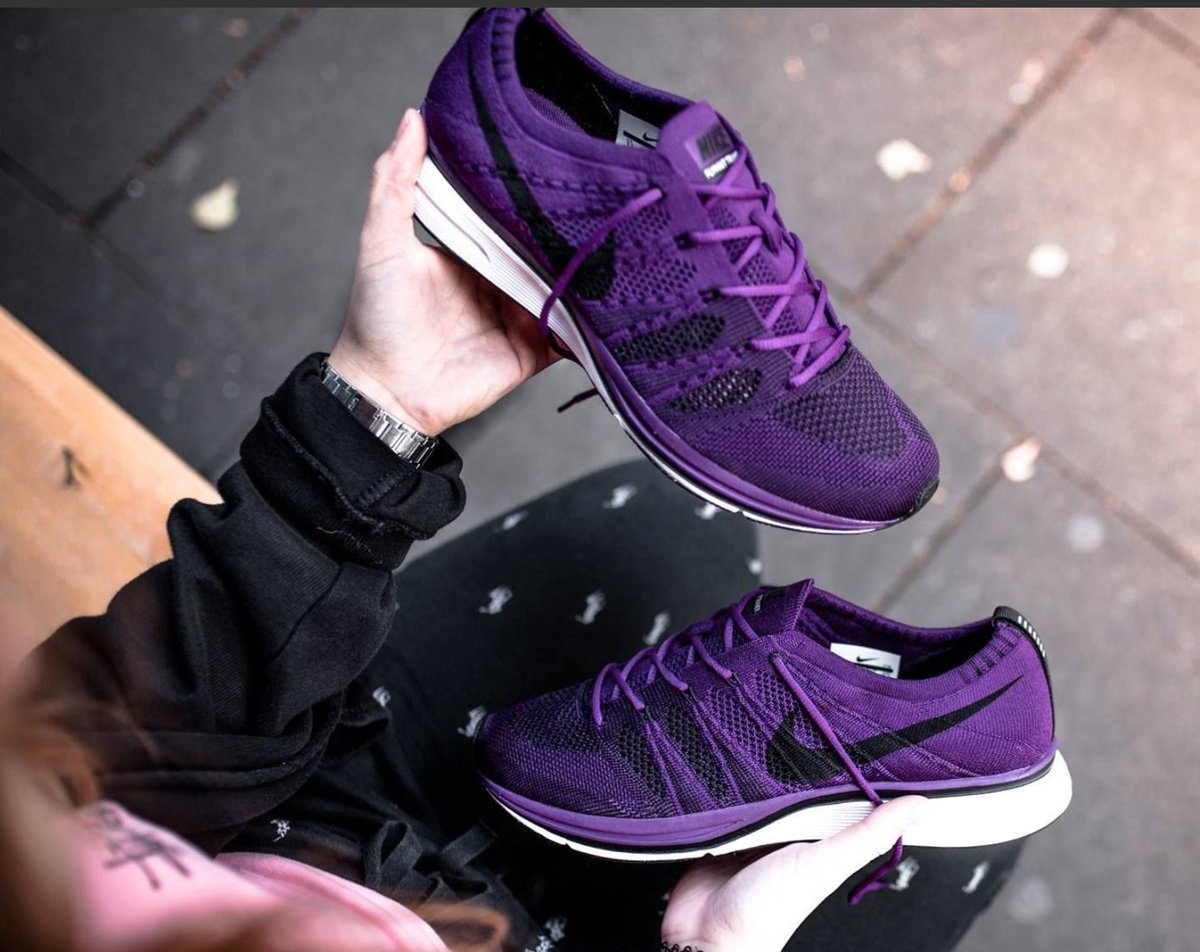 flyknit trainer night purple