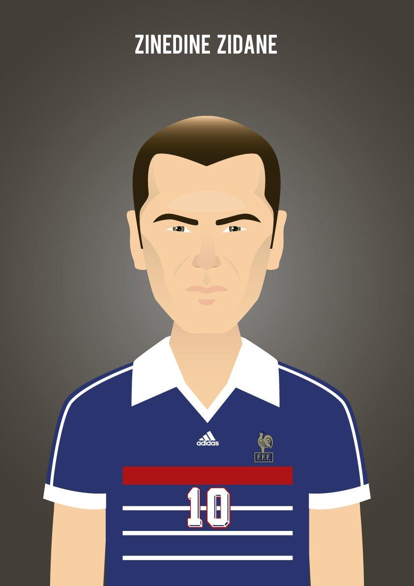 RT @MinimalPosters: Zinedine Zidane #ZinedineZidane #Zizou #France98 #Zidane https://t.co/GLTAoc5a92