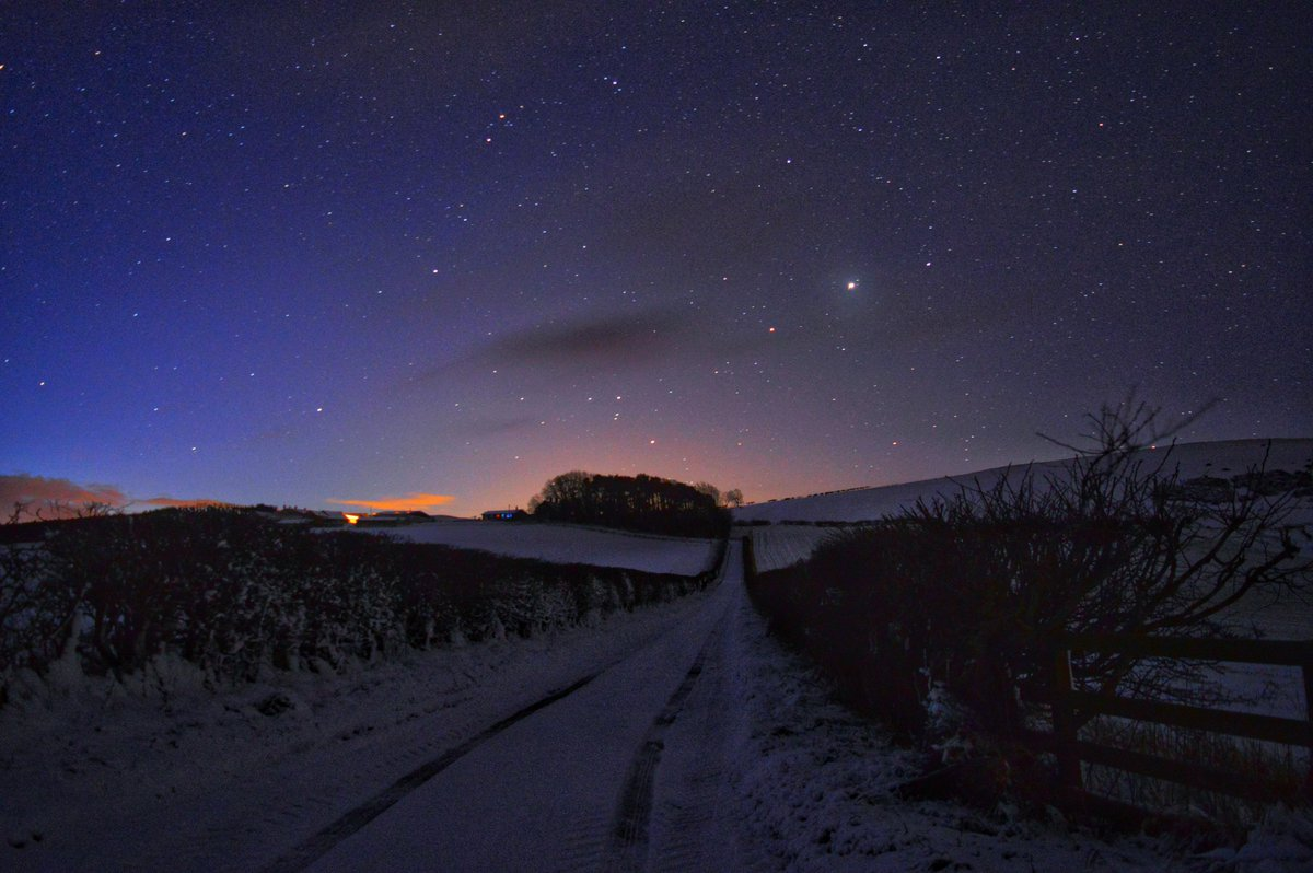 'Stars and snow' is today's Photo of the Day. Taken at Kypie Farm, Northumberland by Darren Chapman