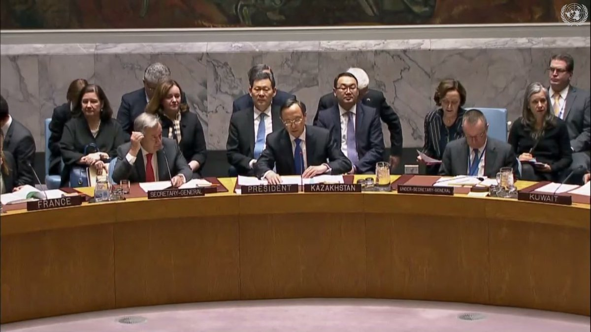 #UNSC debate is underway on #Afghanistan & Central Asia: As a model to link Security & Development. The meeting is chaired by Kazakh Foreign Minister Kairat Abdrakhmanov & attended by UN SG A. Guterres. Afghanistan is represented by Deputy Foreign Affairs Minister Hekmat Karzai.