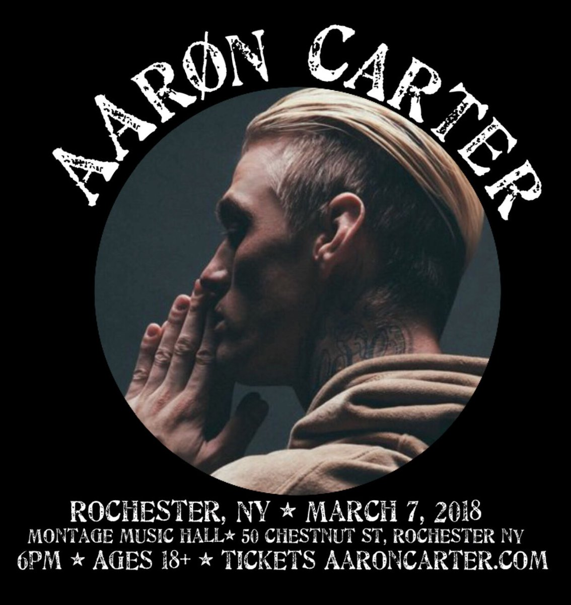 RT @AaronCarter_ST: #ROCHESTER @aaroncarter will be there March 7! Tickets at https://t.co/viWyIaQ8GB #LøVëtour2018 https://t.co/iMuU8Kdvve