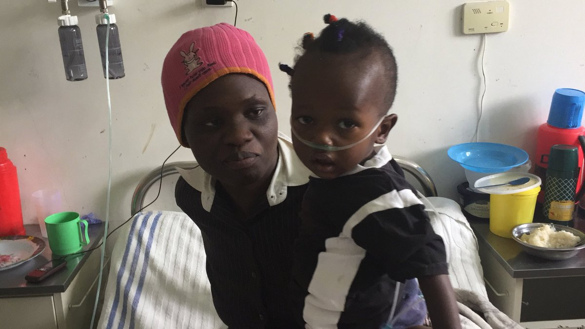 Patient number one at new HEWA TELE plant at Mama Lucy Hospital thanks to GOK, GCC , UNICEF, UKAid