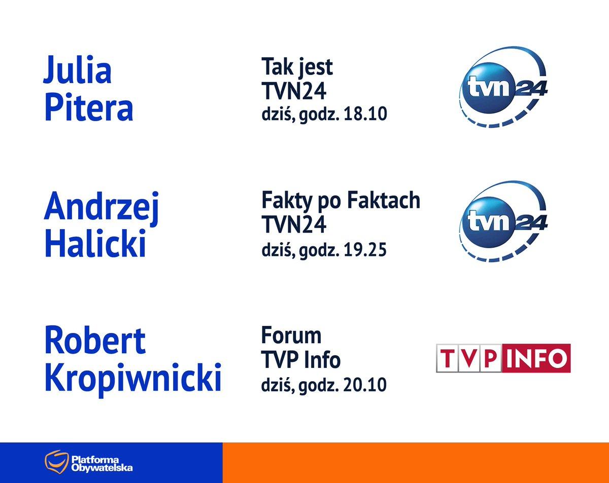RT @NewsPlatforma: #POwMediach (19 stycznia) Julia #Pitera, @AndrzejHalicki, @RKropiwnicki https://t.co/39LGCwnK8y