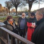 Visite de la réhabilitation de l'ensemble du Serpentin à @VilledePantin, à l'invitation du premier adjoint Alain Periès. @villeetbanlieue