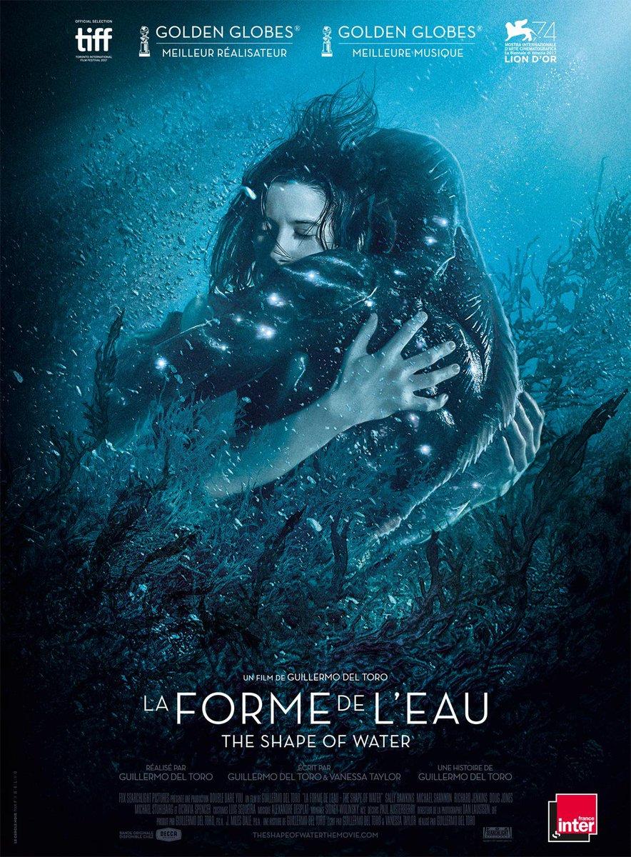 Notre affiche française pour #TheShapeOfWater #LaFormeDeLeau de Guillermo Del Toro   - FestivalFocus