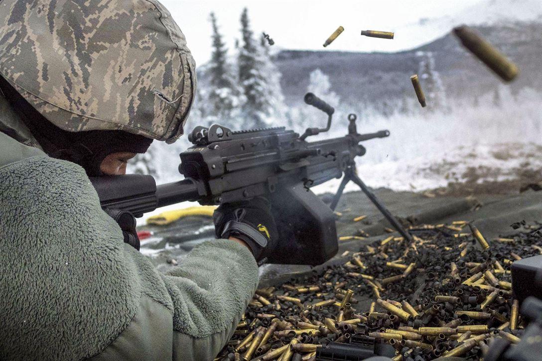 Картинка стрельба из пулемета