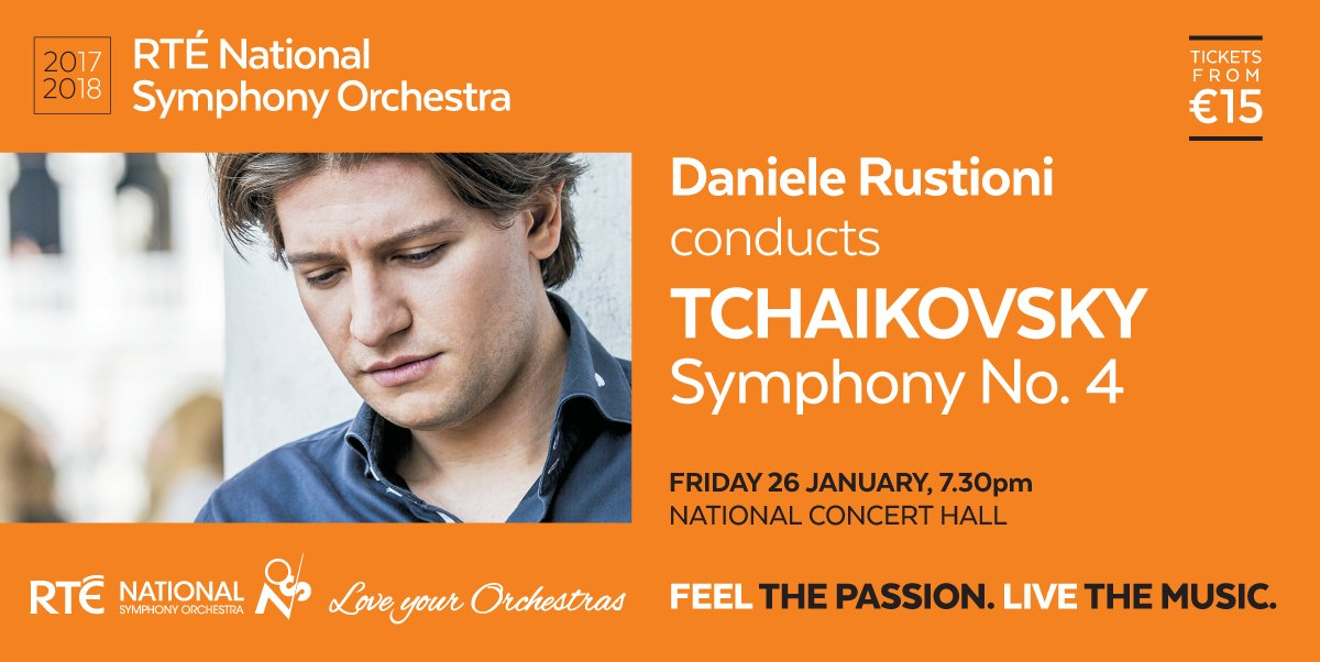 With @RTE_NSO and rising star conductor Daniele Rustioni on 26 Jan at @NCH_Music...a big romantic Tchaikovsky symphony (No. 4)! https://t.co/O1v0oGRm1r