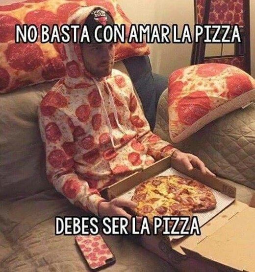 Cuando tu amor por la pizza te lleva a l...