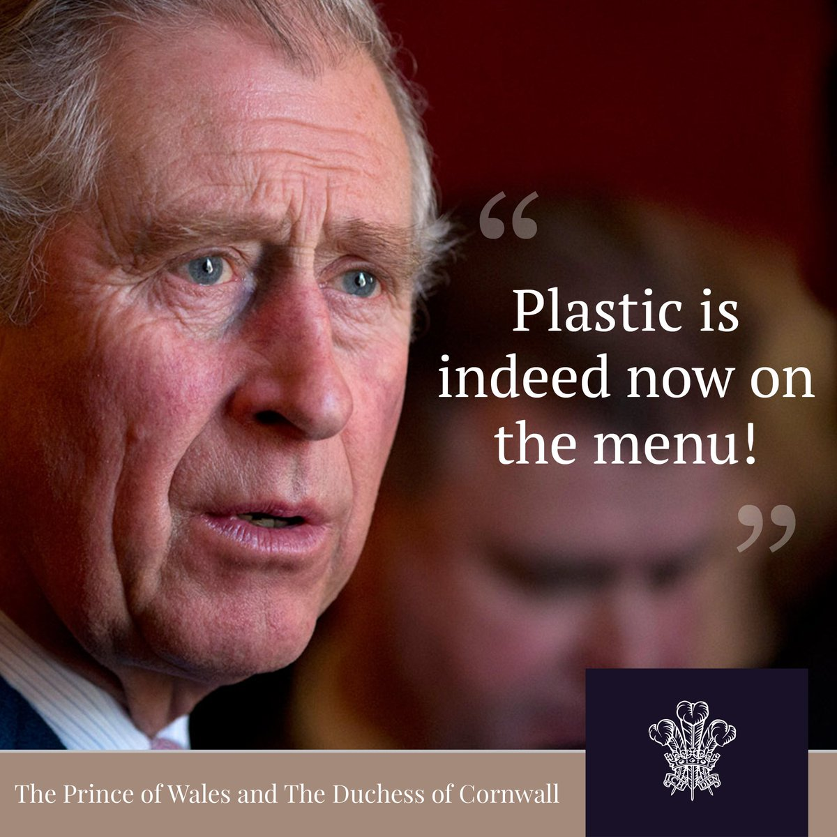 Following all the devastating news about the amount of plastic in our oceans, read what HRH said about marine pollution at October's Our Ocean Conference in Malta.  📱  https://t.co/hyIwrsVUCe