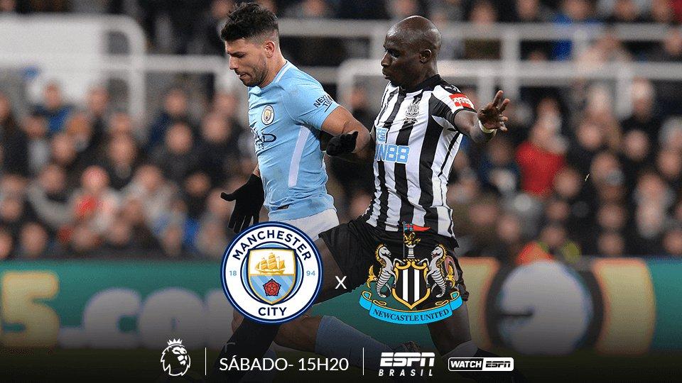 PREMIER LEAGUE ⚽⚽⚽  HOJE , o Manchester City enfrenta o Newcastle, às 15h20 (Horário de Brasília), AO VIVO e EXCLUSIVO na ESPN Brasil e no WatchESPN #PremierLeagueSóNaESPN