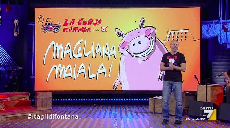 Terzo concorrente  #maglianamaiala #lacorsapiùpazzadelvoto #propagandalive https://t.co/EgBLGGFccy