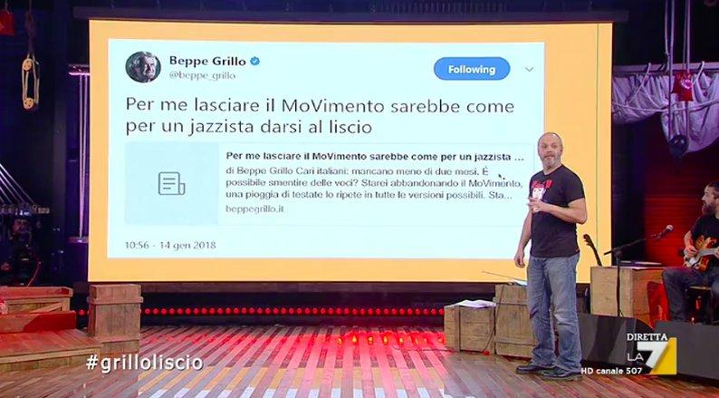 Quarto concorrente  #grilloliscio #lacorsapiùpazzadelvoto #propagandalive https://t.co/rb21FdyIrX