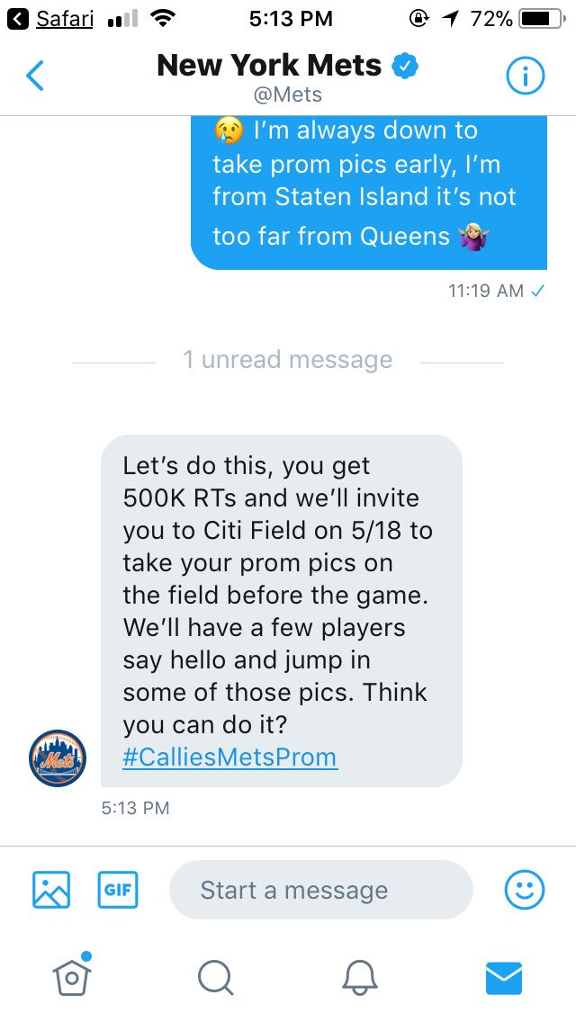 guys!!! if i get 500k retweets this can happen for me!! please help out ���� thank you all!!!  #CalliesMetsProm https://t.co/cr2Kno3jpv