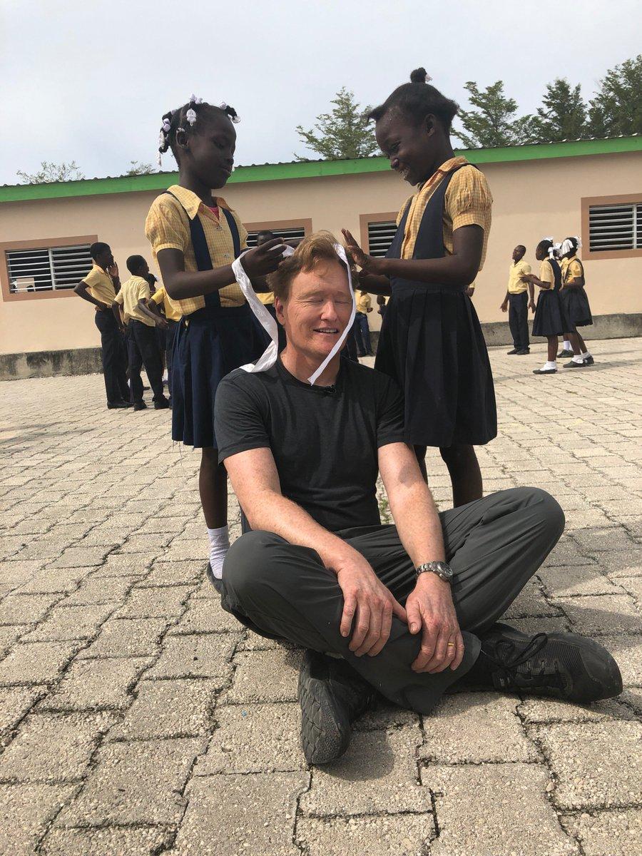 Here I am disrupting the educational process once again. #ConanHaiti #PRODEVHaiti https://t.co/gDEaI4a892