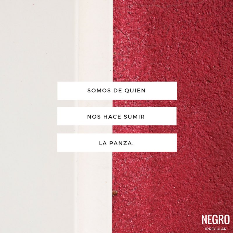 Negro Irregular No Twitter Somos De Quien Nos Hace Sumir