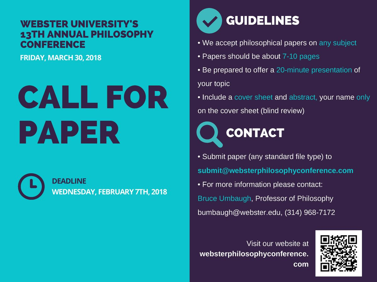 #CallforPapers #CallForSubmissions #philosophy https://t.co/uZoC8WUY8c