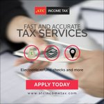 #ATCIncomeTax offers interest-free tax advance loan, electronic filing with no out-of-pocket options and fast and accurate tax service. Visit our website for tax assistance today: https://t.co/DYv7XugrF1  #ATC #IncomeTax #EasyAsATC #Taxes #TaxRefund #W2 #Money