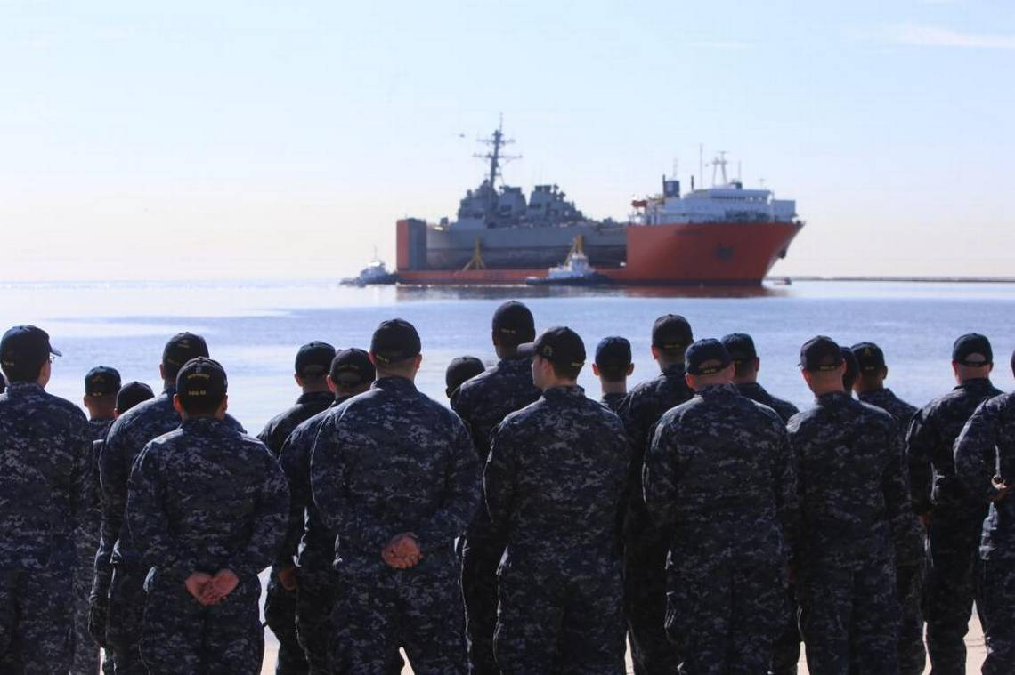 The USS Fitzgerald is home for repairs. Sailors who died 'will be part of the legacy of this ship.' #ussfitzgerald #navy #ingalls #navysailorshttps://t.co/y61fjOcF5xailor