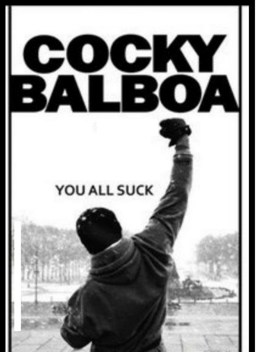 #GiveAFilmConfidence  Cocky Balboa https...