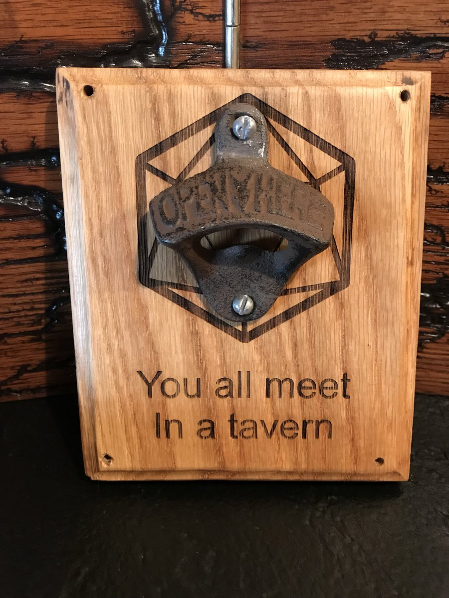 1cf57f4a264 You all meet in a tavern bottle opener! #tavern #dnd #nerdcave #mancave  #gaminglife #decorationpic.twitter.com/rvWsrdrDxf