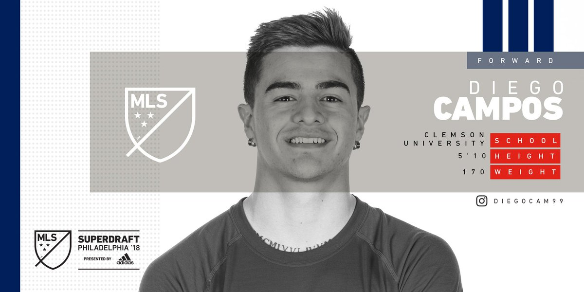At #38, @ChicagoFire select @ClemsonMSoc...