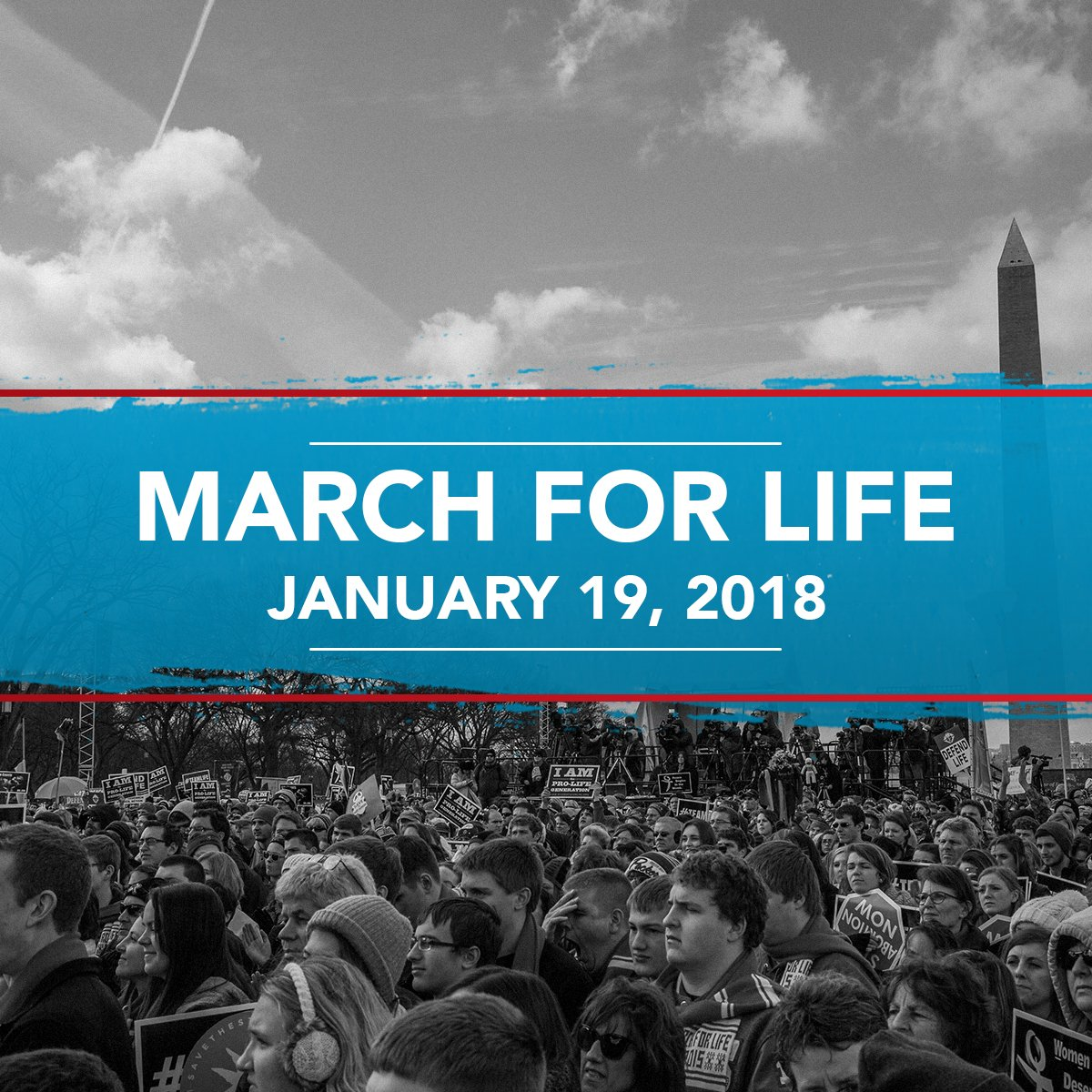 We stand for life. RT if you do too. #WhyWeMarch #MarchForLife