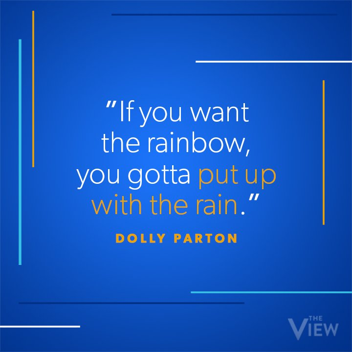 Happy birthday, @DollyParton! She's offered so many powerful words of wisdom over the years — here's one our @MeghanMcCain holds close to her heart! ❤️
