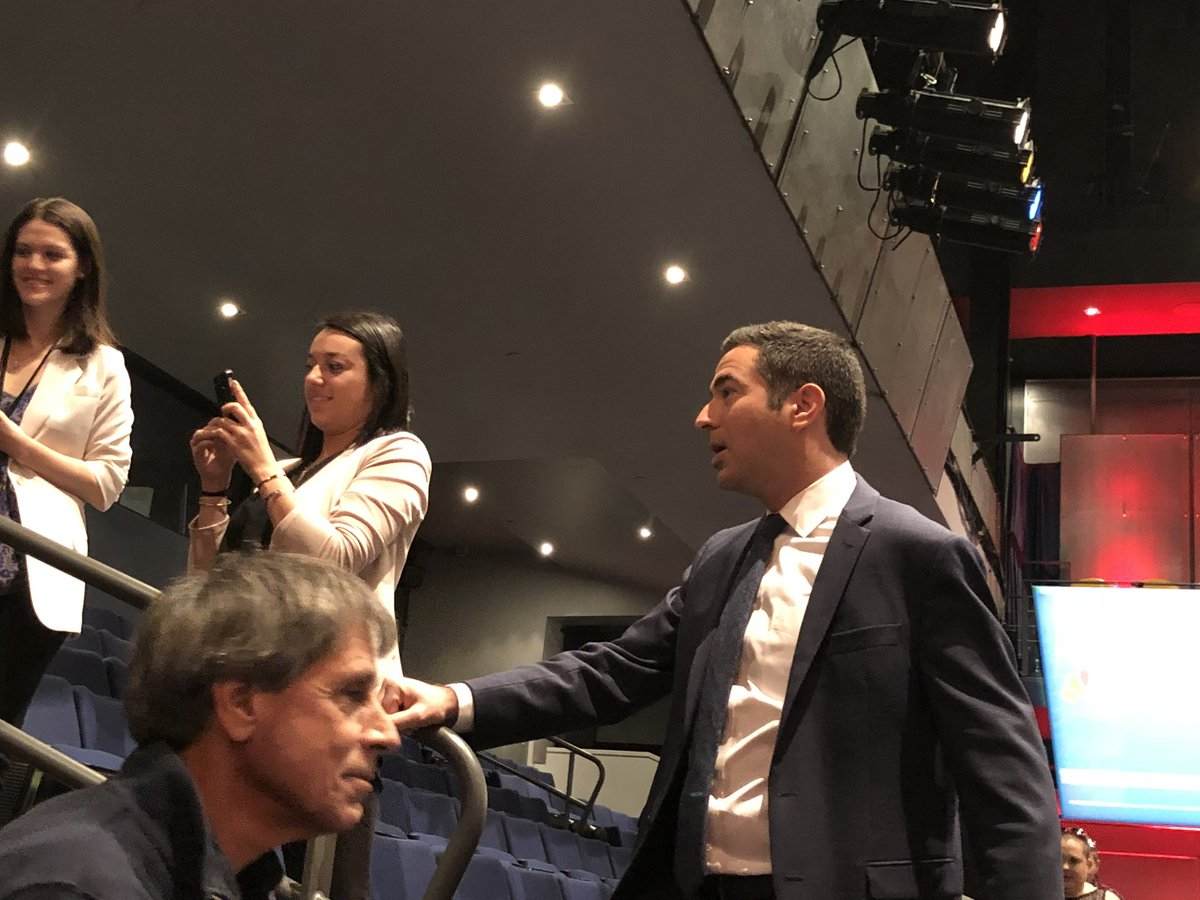 At MSNBC'S event, @AriMelber is working the press section.