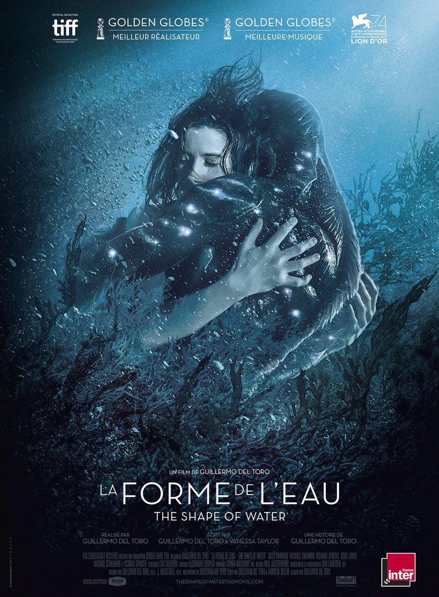 CINÉMA  | Elle est là !  La superbe affiche française de #TheShapeOfWater / #LaFormeDeLEau, le nouveau film de @RealGDT, vient d'être dévoilée. En salle le 21 février prochain.  - FestivalFocus
