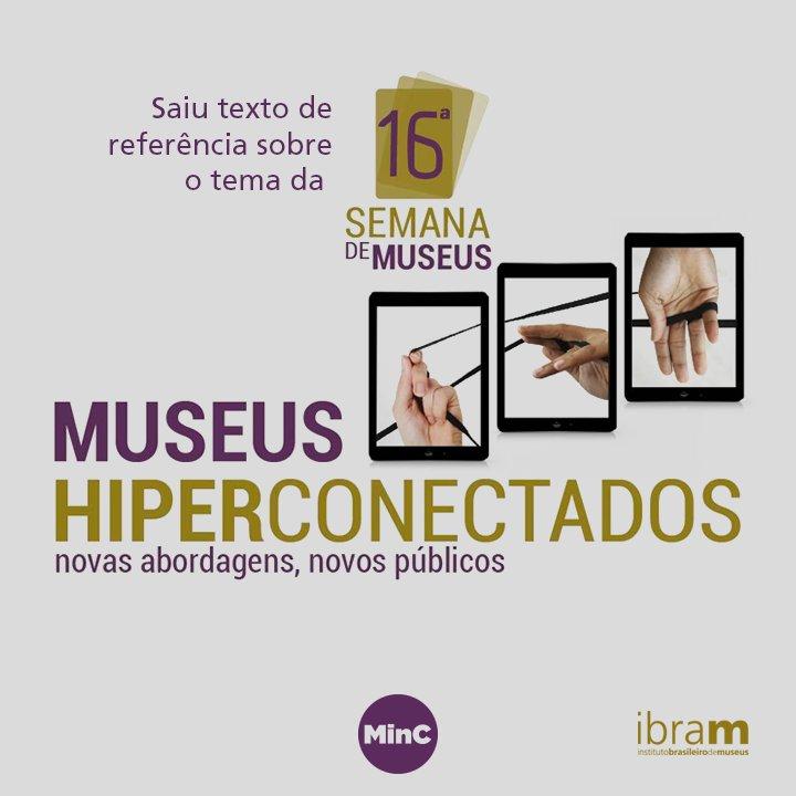 O Ibram disponibiliza texto de referência sobre a 16ª Semana dos Museus, que ocorrerá de 14 a 20 de maio . Para se inscrever, saiba mais: https://t.co/jUJTmL6Gti