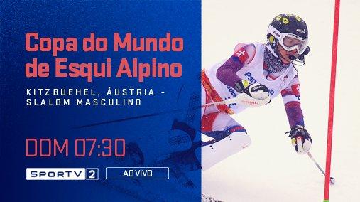Manhã gelada na tela do SporTV!  Curta a Copa do Mundo de Esqui Alpino, neste domingo, às 07:30, ao vivo, no SporTV2! #EsquiNoSporTV