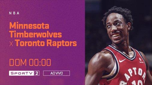 Madrugada de #NBAnoSporTV  Curta Timberwolves e Raptors, às 00:00, ao vivo, no SporTV2!