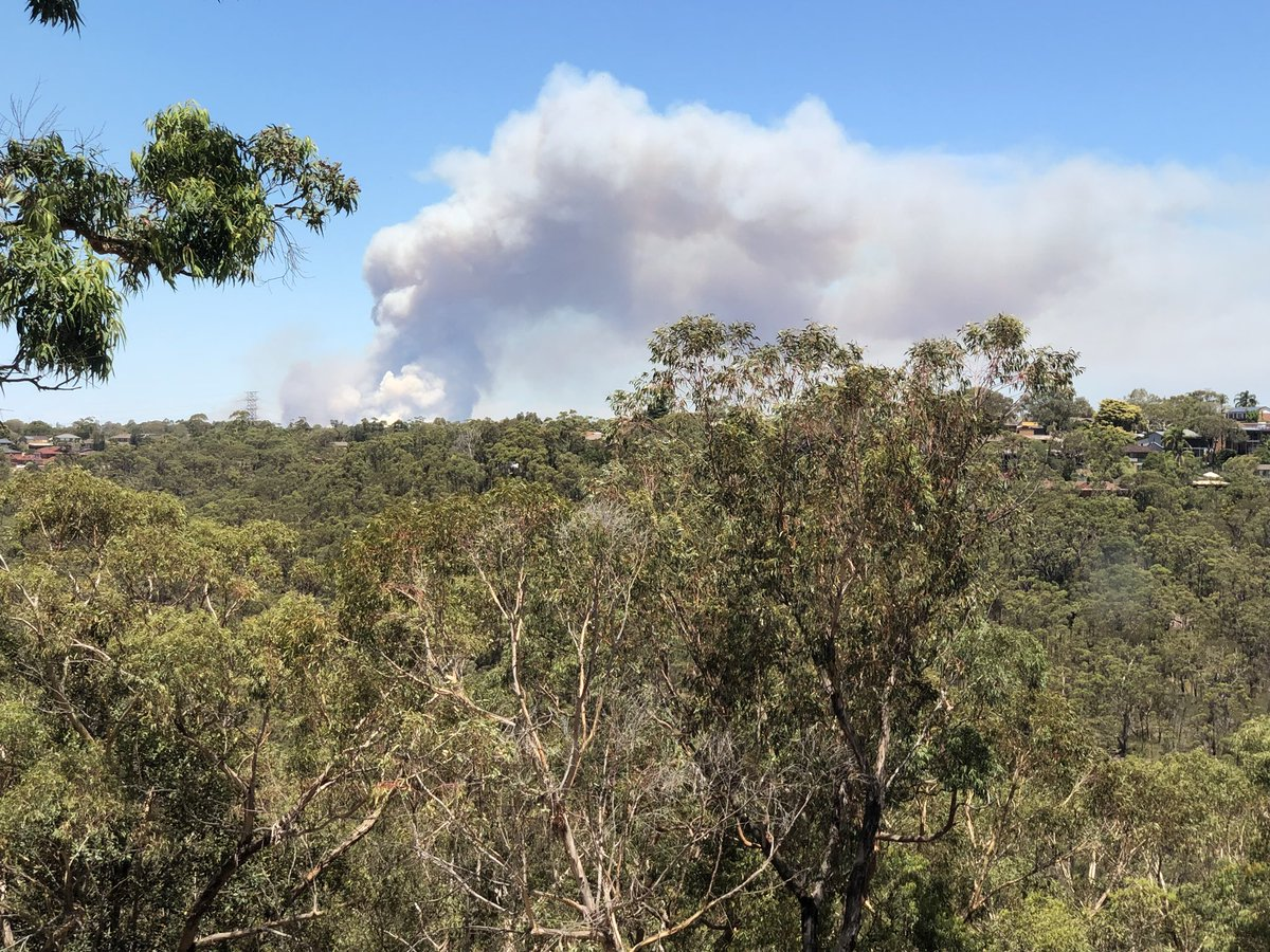 Amanda  Been watching the big bushfire develop in the Royal National Park Sydney